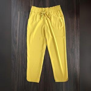 Zara Yellow Jogger Pants